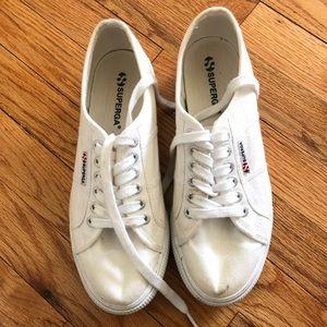 White Platform Superga Sneakers
